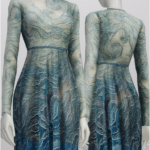 S4 _Glitter Blue Wave Gown by Valentino Pre-Fall 2016 (4 color)