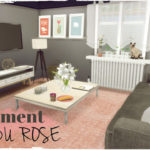 Sims 4 – Apartment DU ROSE (House & Mods for download) – Dinha