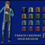 Enure Sims, Parker Cardigan Solid Recolor Mesh by JS SIMS…