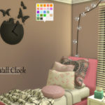 Enure Sims, Butterfly Wall Clock Download Credits 3ds Model:…