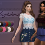✩ Trillyke ✩ | Magdalena Romantic Lace Shirt A pretty lace shirt,…