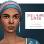 femmeonamissionsims — Double Feather Earrings This earring from City…