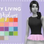 ♥City Living Peplum