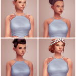 oh, you again. city living hairs recolored & retextured // females