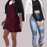 Lumy-Sims LEATHER JACKET ACCESSORY