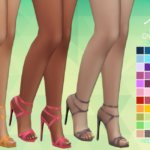 Aveira's Sims 4, Madlen's Onix Shoes – Recolor 66 Colors …