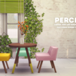 Percey; a maxis match surface set + chairs