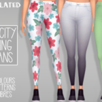 – 24 solid colours, 9 patterns and 8 ombres of EA's City Living skinny jeans