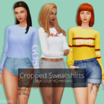 Cropped Sweatshirts This is the second piece of CC… | K-Chan Sims