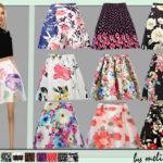 melisa inci's Floral Skater Skirt