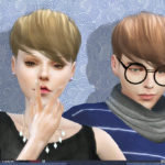wingssims' WINGS SIMS4 HAIR TSE1030 M F