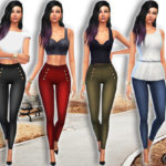 Saliwa's Casual High Waist Skinny Pants