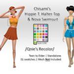 Qnie Recolor- Chisami Halter Top Set