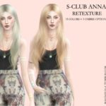 magnolia-c's Magnolia – S-club Anna Hair Retexture – mesh needed
