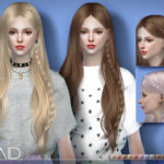 S-Club's sclub ts4 hair Anna braid