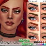 Pralinesims' Maxis Match Eyebrow Pack N02