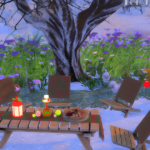 Jennisims: Downloads sims 4:Set Christmas outside Faby (8items)