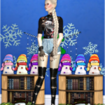 Jennisims: Downloads sims 4:Decoratives XmasDinner Snowman's Vol5