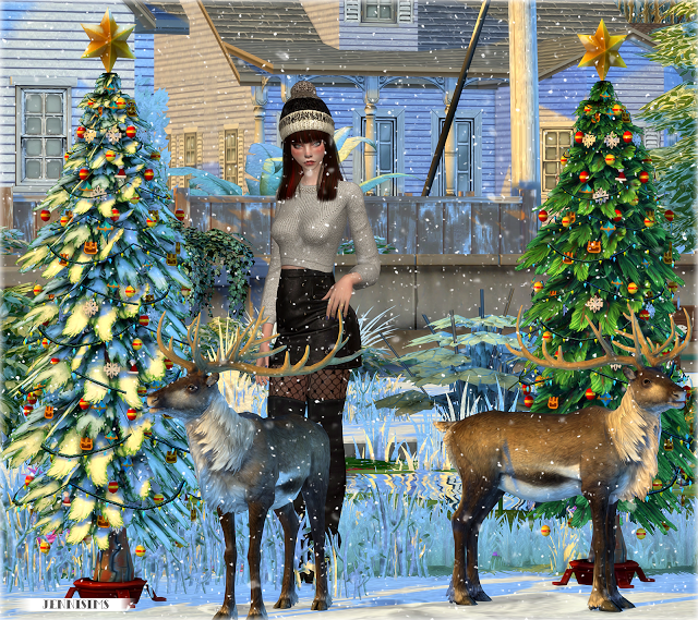 Jennisims: Downloads Sims 4:Christmas Holiday (reindeer