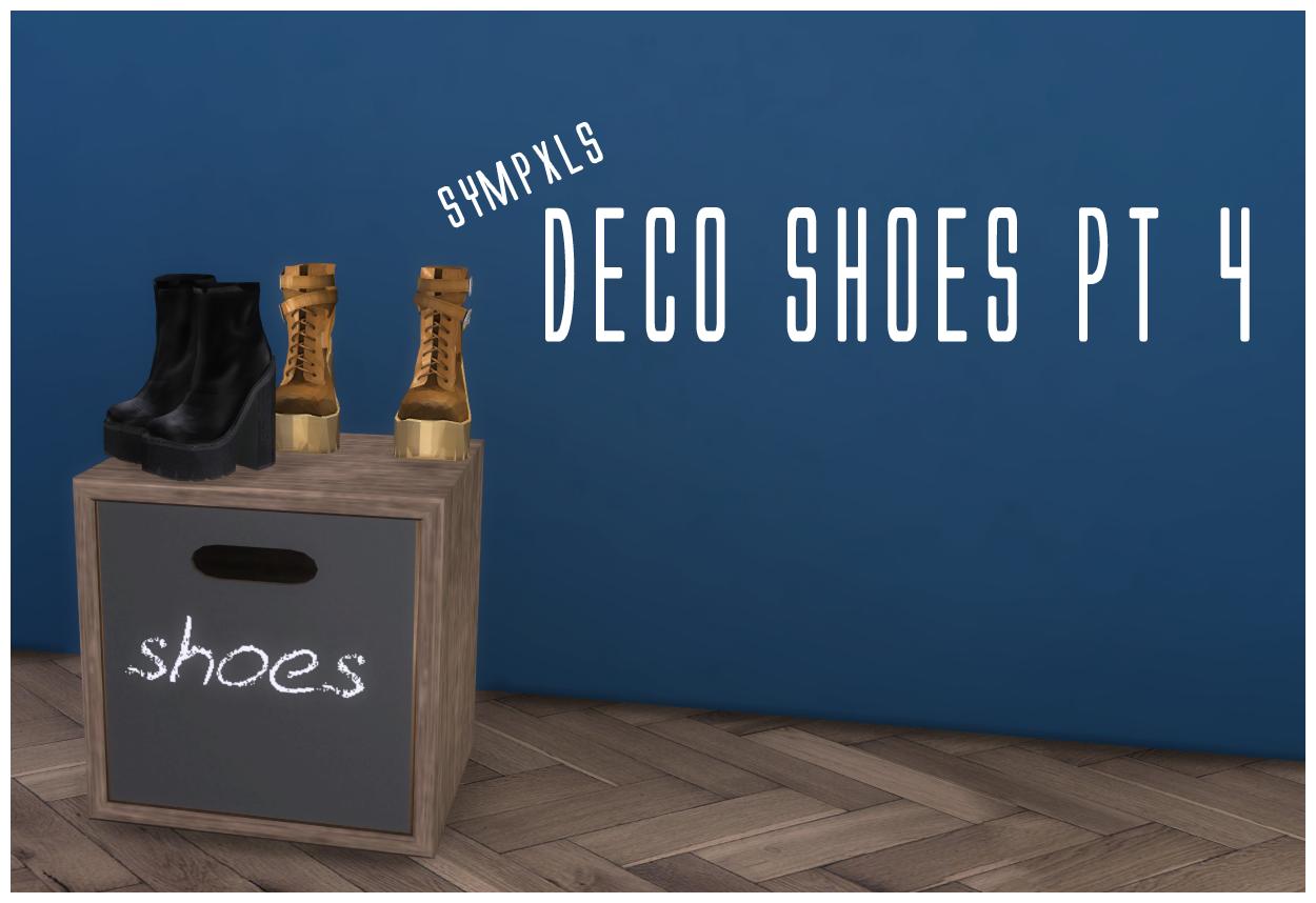 Hooba noobie sympxls deco shoes pt 4 sims 4 updates for Deco appartement sims 4