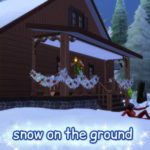Clown Confetti's TS4 CC – Snow piled up on the ground! This is a low-poly…