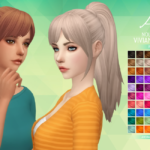 Aveira's Sims 4, NolanSims Vivian Hair V2 – Recolor 70 Colors …