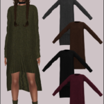 Lumy-Sims Julie's Slouchy Knit Dress