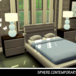 Sims 4 Wonderland SPHERE CONTEMPORARY TABLE LAMP