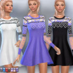 EsyraM's Embroidered knit dress