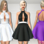 sims2fanbg's 259 – Fluffy mini dress