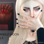 Pralinesims' Triangle Moon Nails N17