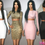 sims2fanbg's 282 – Kim Kardashian Dress