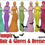 Vampires – Hair & Dresses & Gloves – Recolors