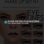 Make up set N1,eye lines | The Sims 2,3 mánie