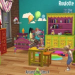 Around the Sims 4 | Custom Content Download | Roulotte kid & toddler bedroom