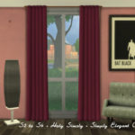 S2 to S4 – Holy Simoly Simply Elegant Curtains – ChiLLis Sims