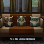 TS3 to TS4 – Awesim's Owl Cushion – ChiLLis Sims