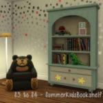 S3 to S4 – Summer Kids Bookshelf – ChiLLis Sims