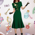 Xelenn — D&G Pocket Watch – applique midi dress new mesh by…