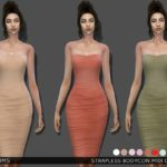 Bill Sims' Strapless Bodycon Midi Dress
