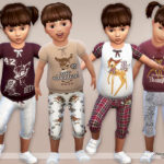 Pinkzombiecupcakes' Bambi Pyjama Set for Toddlers