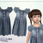 Puresim's Denim dress for toddler