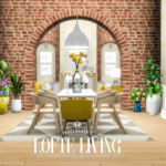 Simsational Designs: Lofte Living – Brick Arch Decor Set