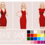 Purrsephone : 3 Base Game Dresses Recoloured These dresses were…