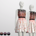 Black Cherry Blossom Dress by Red Valentino (4 Color)