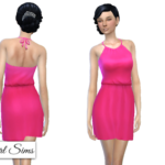 NyGirl Sims 4: Tied Halter Sundress