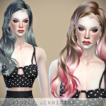 Jennisims: Downloads sims 4:Newsea Peaky Angels Hair retexture