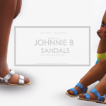 Johnnie B Sandals for Little Girls ~ Onyx Sims