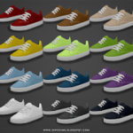 Basic Skater Shoes – Teen to Elders ~ Onyx Sims