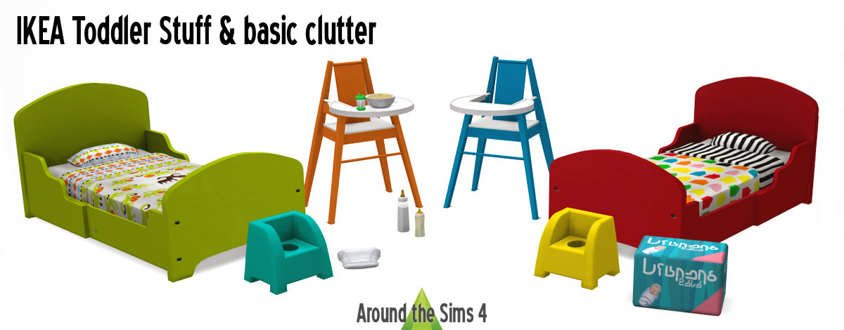 Around the Sims 4 : Custom Content Download : IKEA Toddler stuff u0026 basics : Sims 4 Updates ...